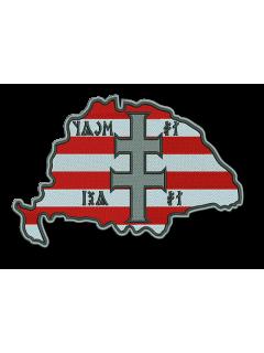 Nagy - Magyarország felvarró Így Volt, Így Leszl 30cm nagyságú