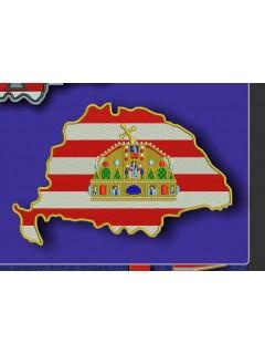 Nagy - Magyarország felvarró Koronával