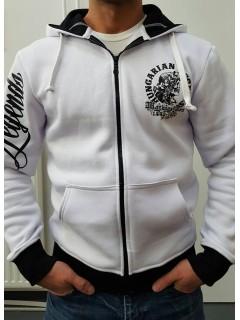 Koponyás Mátyás - fehér cipzáras pulóver