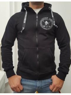Magyar betyár - hímzett férfi cipzáras pulóver