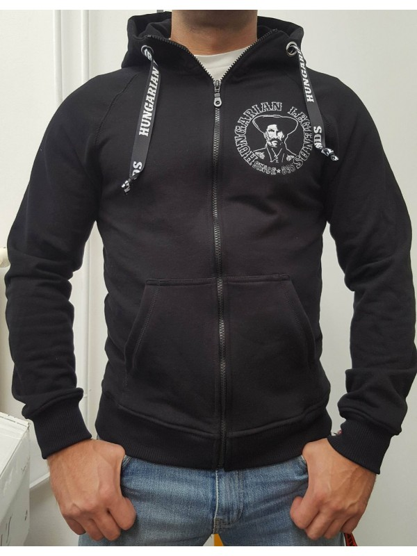 Magyar betyár - hímzett férfi cipzáras pulóver 54b8990a02