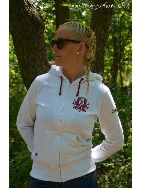 d203b7a34b HARCOS női kapucnis pulóver - fehér
