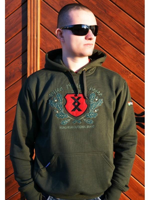 0badefc4f5 Pajzs-HNB kapucnis belebújós pulóver