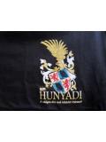 Hunyadi János címeres póló - fekete