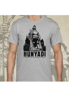 Hunyadi János póló - fekete