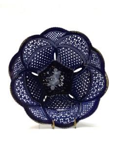 Korondi kékporcelán tálka - 14cm