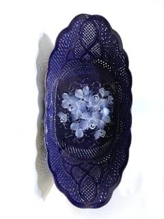 Korondi kékporcelán tál