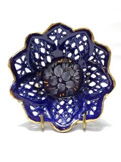 Korondi kékporcelán tálka - 7cm