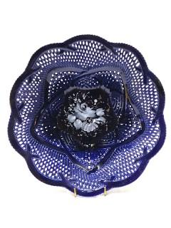 Korondi kékporcelán tálka - 18,5cm