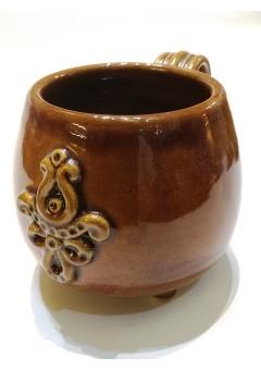 Egyedi teás pohár Turáni ornamentikával díszítve