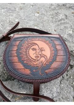 Bőr Táska nap és a Hold