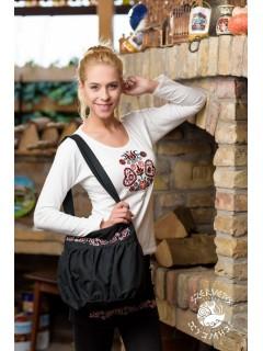 Szervető-buzsáki buggyos táska - fekete