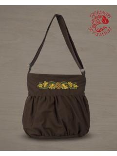 Makkos buggyos táska - barna
