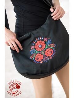 Szervető-palóc félhold táska - fekete