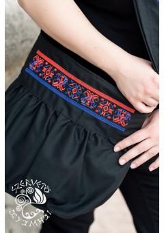 Szervető-torockói buggyos táska - fekete