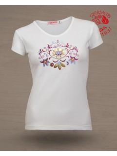 Szervető-vásárhelyi O póló - fehér