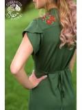 Napsugár ruha Szervető-matyó hímzéssel - zöld