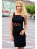 Gyöngy ruha Szervető-matyó hímzéssel - fekete