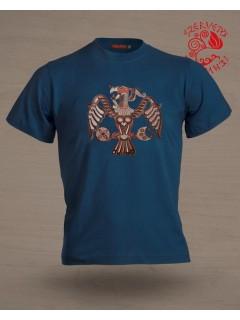 Szervető-rakamazi turul  póló - kék