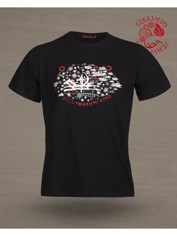 Csaba királyfi népe póló - fekete 394016dfdb