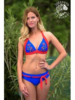Szervető-matyó bikini - kék-piros