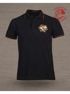 Csodaszarvas piké póló - fekete