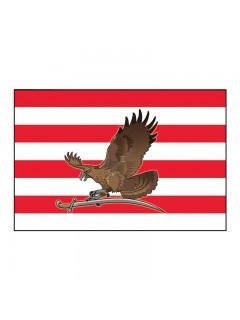 Árpád-sávos zászló Turul madárral