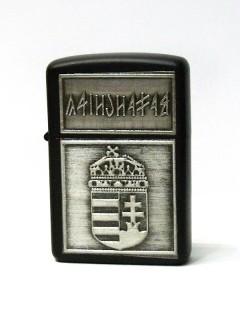 Címeres öngyújtó - fekete, rovásos