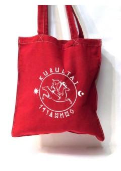 Kurultáj emblémás bevásárló táska - bordó