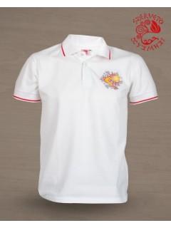 Csodaszarvas piké póló - fehér