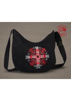 Napkereszt félhold táska - fekete