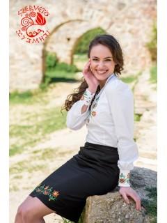Szervető-kalotaszegi női ing - fehér