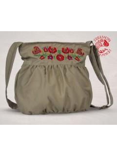 Szervető-matyó buggyos táska - bézs