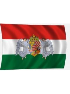 Angyalos címeres trikolor zászló