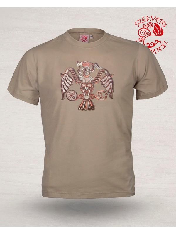 Szervető-rakamazi turul póló - drapp 2f47e3600d