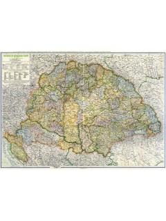 Magyarország közigazgatási térképe (Kogutowitz, 1942) 117X86
