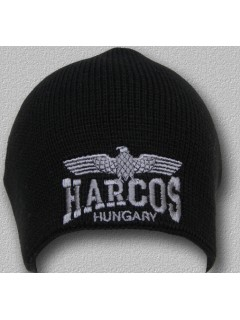 Kötött sapka HARCOS sassal egyszín - KsF02