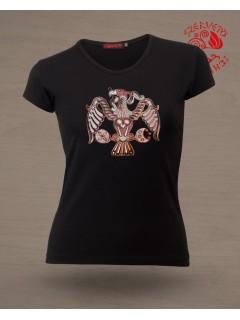 Szervető-Rakamazi Turul női póló fekete