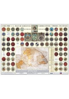 A Magyar Királyság vármegyéinek címeres pecsétjei 120X80
