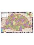 A Magyar Szent Korona országai térképe 100X70