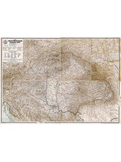 A Magyar Szent Korona országainak közigazgatási térképe 65X46