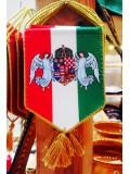 Autós zászló angyalos címerrel - trikolor