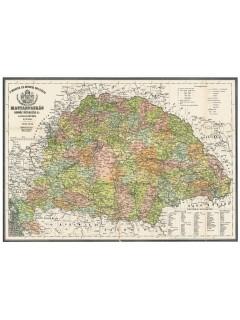 Antik Magyarország térkép könyöklő 65X45