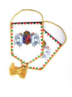 Autós zászló angyalos címerrel