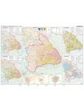 Az erdélyi fejedelemség duo hajtogatott térkép 100X70