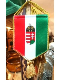 Autós zászló címerrel - trikolor