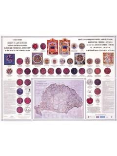 Erdély és a kiváltságos területek címerei 120X80