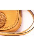 Dunaszekcsői bőrbenyomatos női kistáska - barna