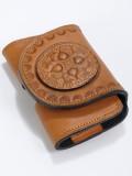 Bőr iPhone 5 telefontok Dunaszekcsői mintával - barna