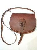 Bőrbenyomatos női táska - barna
